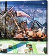 Display Lady Liberty Copper Bike Ny Acrylic Print