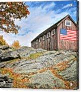 Display Of Colors - Roxbury Barn  Acrylic Print by Thomas Schoeller