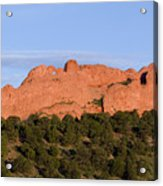 Distant Camels In The Garden Of The Gods Acrylic Print