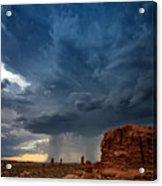Distant Desert Storm Acrylic Print