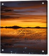 Distant Hills At Sunset Acrylic Print