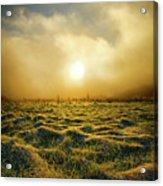 Distant Mist Horizon Acrylic Print