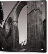 Distant Mountain And Long Bridge Acrylic Print
