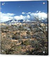 Distant Mountain Range Acrylic Print