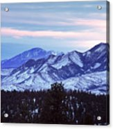 The Distant Peaks Of Pikes Acrylic Print