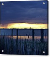 Distant Storms At Sunset Acrylic Print