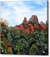Distant View Of High Peaks Acrylic Print
