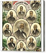 Distinguished Colored Men   1883 Acrylic Print by Daniel Hagerman