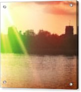 Distorted Sunset Acrylic Print