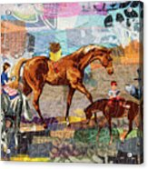 Distracted Riding Acrylic Print by Martha Ressler