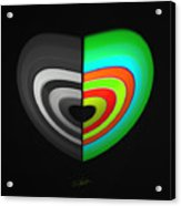 Divided Heart Acrylic Print