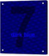 Divine Dark Blue Seven Acrylic Print