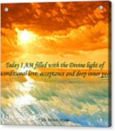 Divine Light - Ss1200b Acrylic Print