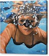 Diving Acrylic Print