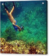 Diving For Shells Acrylic Print
