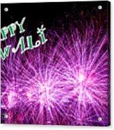 Diwali Greetings Card Acrylic Print