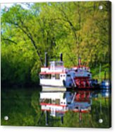 Dixie Belle River Boat Acrylic Print