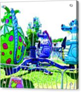 Dizzy Dragon Ride 2   Acrylic Print