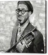 Dizzy Gillespie Vintage Jazz Musician Acrylic Print