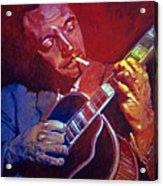 Django Sweet Lowdown Acrylic Print by David Lloyd Glover