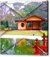 Djg-0004 Pavilion View Of Teahouse Acrylic Print