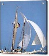 dk tall ships fiddlers green gaff schooner lyr 1973 D K Spinaker Acrylic Print