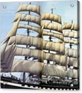 dk tall ships kruzenshtern barque lyr 1926 full D K Spinaker Acrylic Print