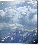 Dm9233 Clouds Over Mt. Moran V Acrylic Print