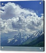 Dm9234 Clouds Over Mt. Moran H Acrylic Print