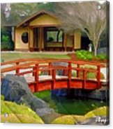 Do-00006 Cypress Bridge And Tea House Acrylic Print