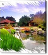 Do-00007 Japanese Gardens Acrylic Print