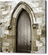 Do-00055 Chapels Door In Morpeth Village Acrylic Print