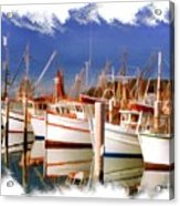 Do-00096 Boats In Nelson Bay Early 90s Acrylic Print