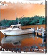 Do-00108 Boat At Sunset Acrylic Print