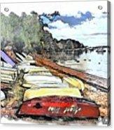 Do-00124 Tender Boats Acrylic Print