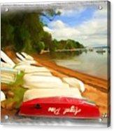 Do-00125 Tender Boats Acrylic Print