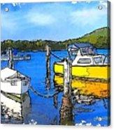 Do-00147 Resting Boats Acrylic Print