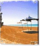 Do-00155 Beach At Royal Mirage Hotel Acrylic Print