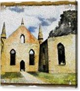 Do-00247 Church At Port Arthur Acrylic Print