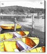 Do-00279 Yellow Boats Acrylic Print