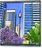 Do-00285 Sydney Centre Tower In Spring Acrylic Print