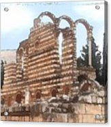 Do-00302 Ruins In Anjar Acrylic Print