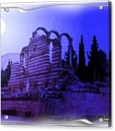 Do-00307 Moon On Anjar Ruins Acrylic Print