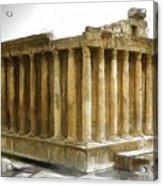 Do-00311 The Temple Of Bacchus Baalbeck Acrylic Print