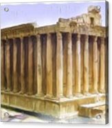 Do-00312 Temple Of Bacchus In Baalbeck Acrylic Print