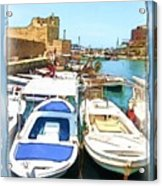 Do-00347 Boats In Byblos Port Acrylic Print