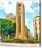 Do-00358 The Clock Tower Acrylic Print