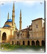 Do-00362al Amin Mosque And St George Maronite Cathedral Acrylic Print