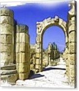Do-00407 Roman Portico In Tyr Acrylic Print