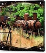 Do-00411 Old Train In Ryak Acrylic Print